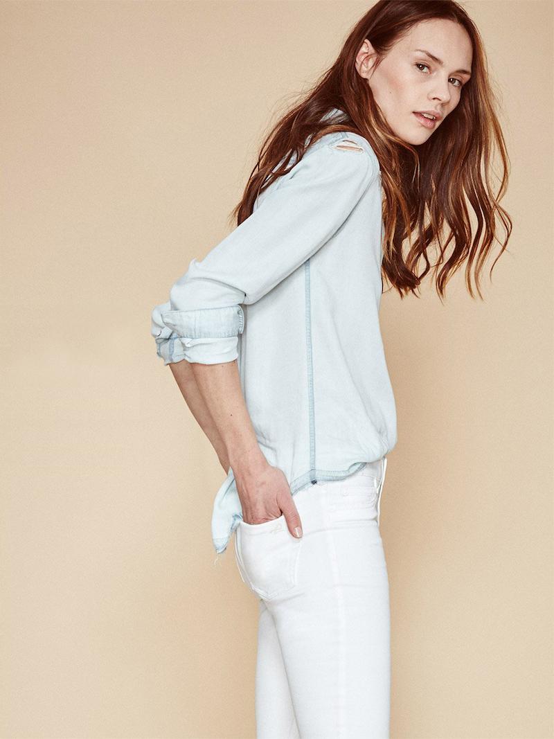 DL1961 Florence Instasculpt Cropped Jeans in Porcelain