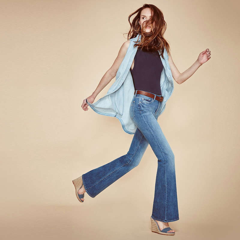 DL1961 Heather High Rise Flare Jeans in Leonard