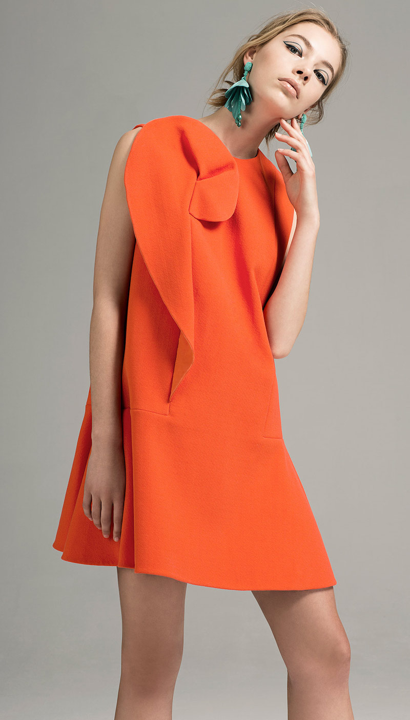 Delpozo Ruffle Detail Mini Dress