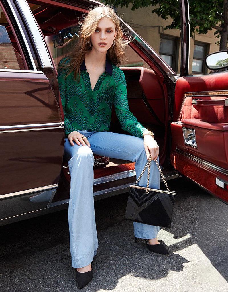 Diane von Furstenberg Lorelei Two Silk Top