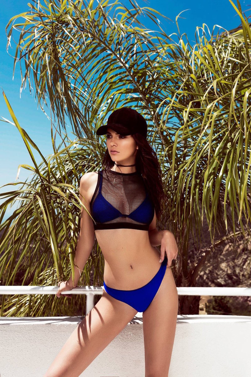 KENDALL + KYLIE at Topshop Double Layered Mesh Bikini Top and Bottoms