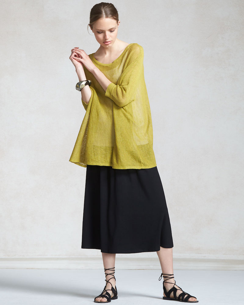 Eileen Fisher Drawstring A-line Jersey Skirt