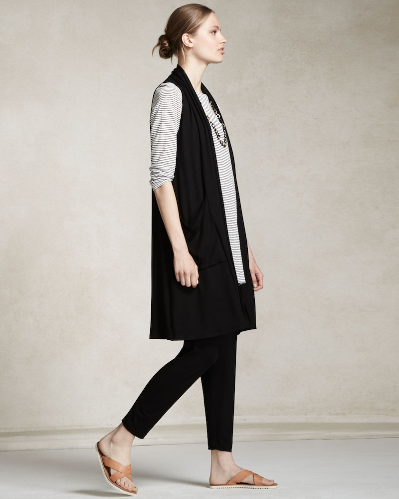 Eileen Fisher Sleeveless Lightweight Long Vest