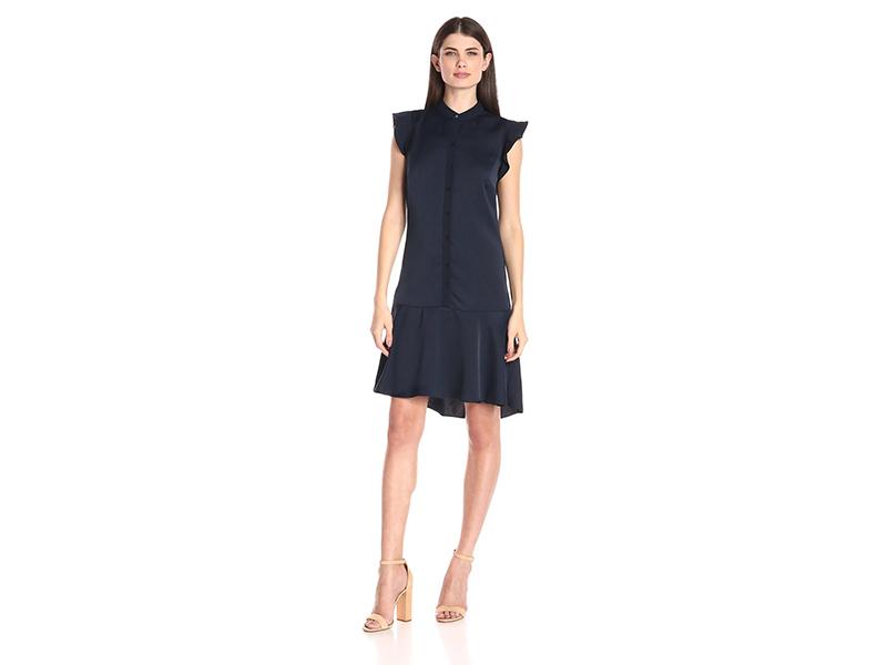 Ellen Tracy Flutter Sleeve Shirt Dress