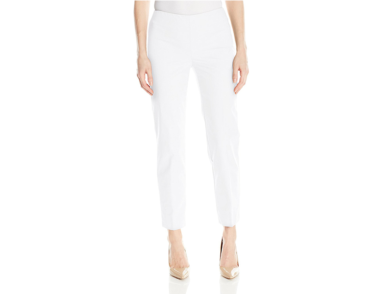 Ellen Tracy Side Zip Ankle Pant
