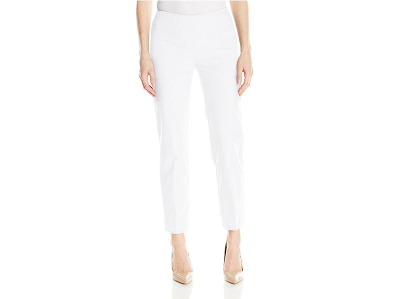 Ellen Tracy Side Zip Ankle Pant
