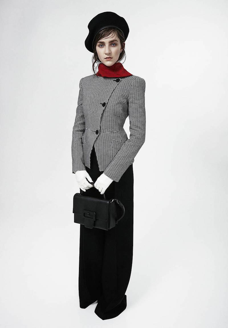 Emporio Armani Houndstooth Viscose Blend Jacket