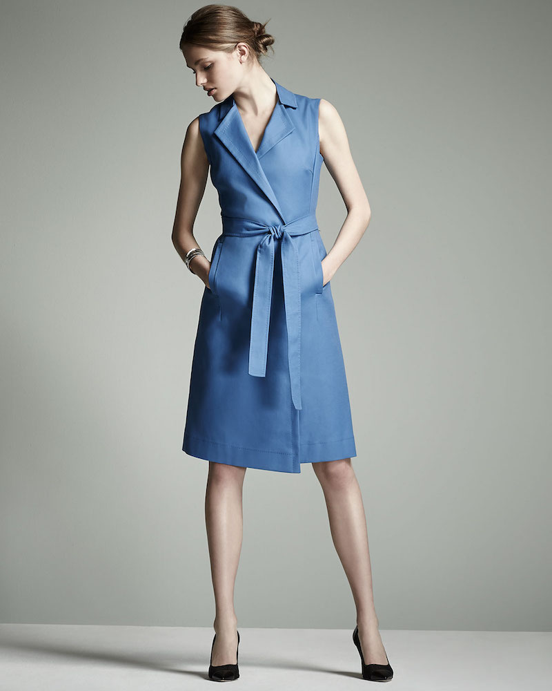 Escada Bartolini Sleeveless Belted Shirtdress_1