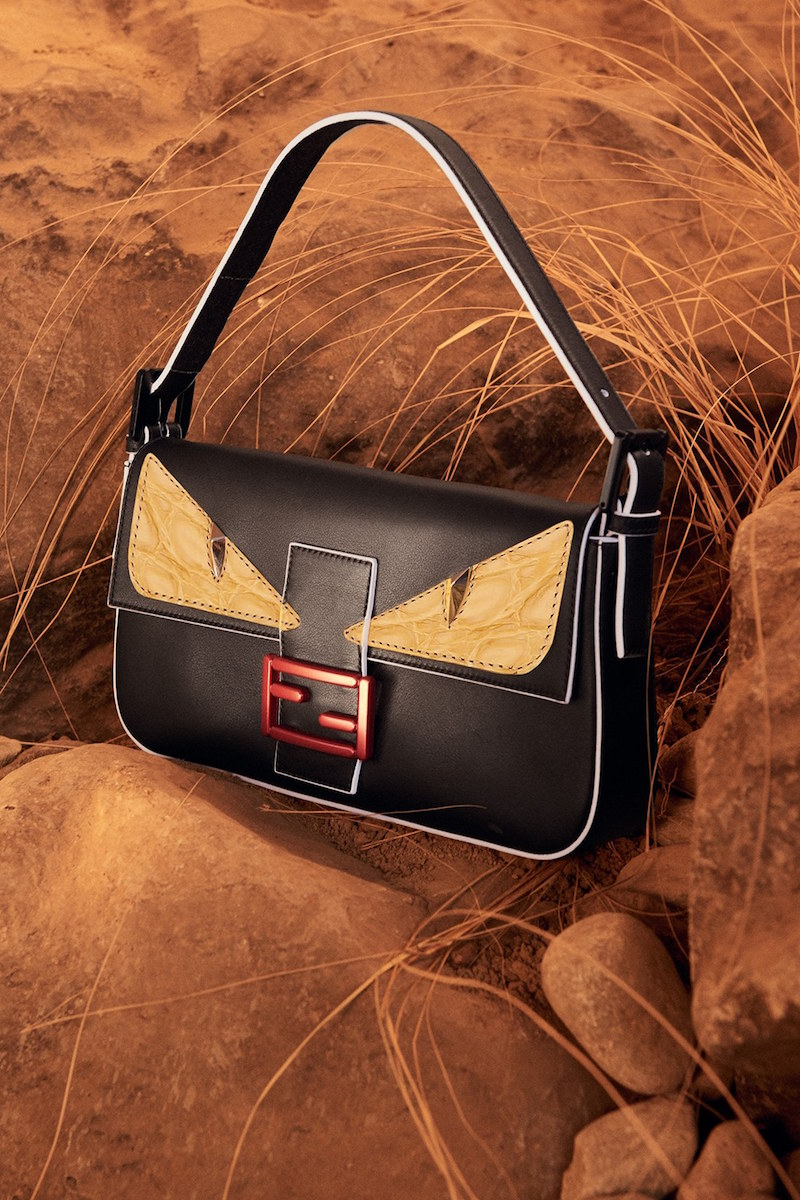 Fendi Monster Leather Mini Baguette