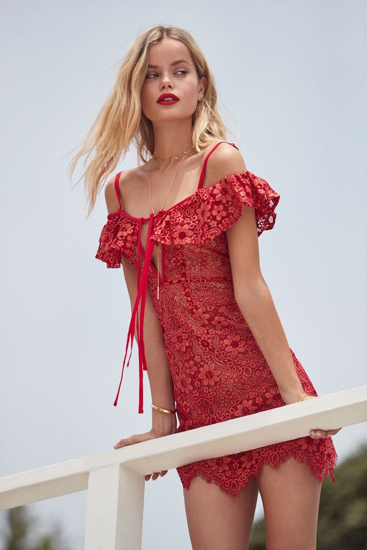 For Love & Lemons Rosemary Mini Dress