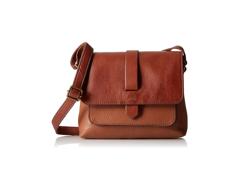 Fossil Kinley Small BRWN Cross-Body Bag