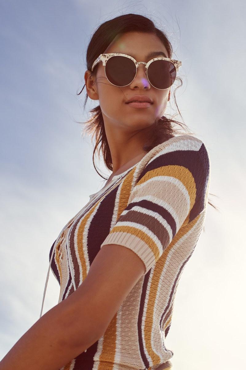 Frame Le Lace Up Stripe Shirt Dress