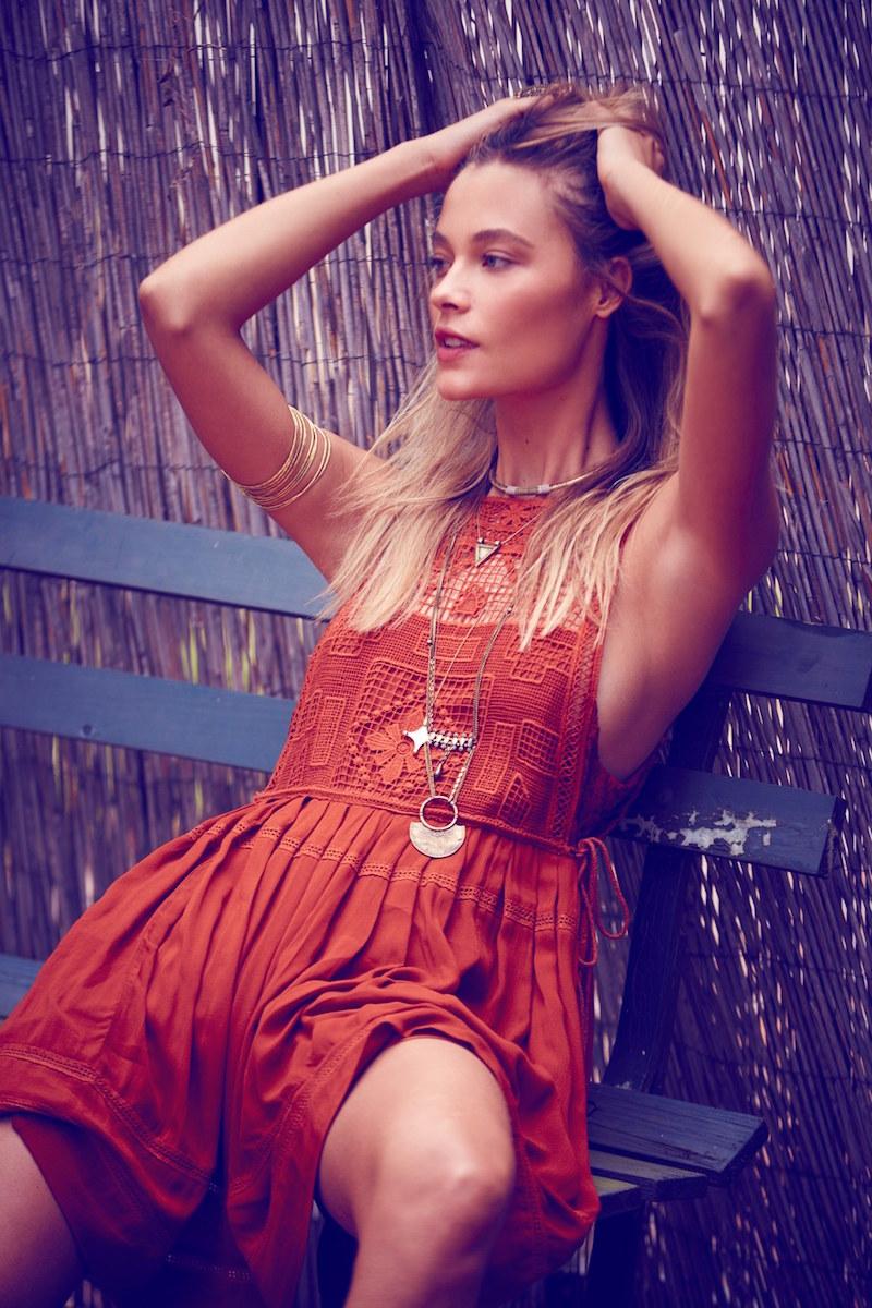 Free People Emily Crochet Dress