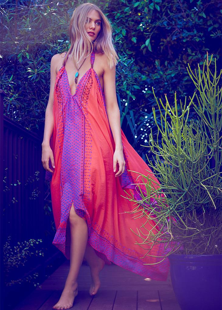 Free People Merida Printed Maxi Dress