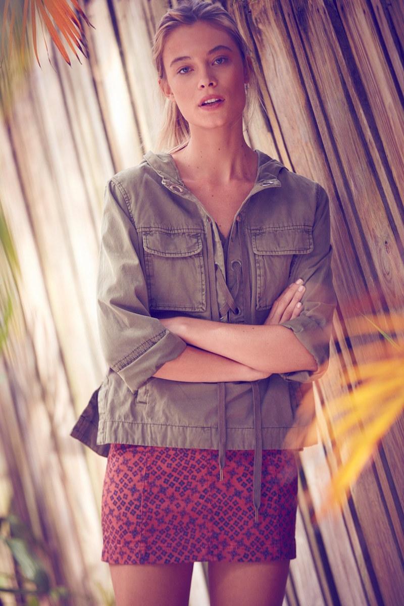 Free People Safari Cotton Pullover Jacket
