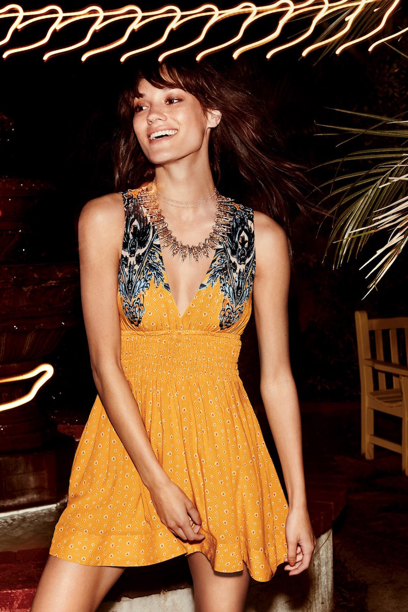 Free People Walking Through Dreams Fit & Flare Dress