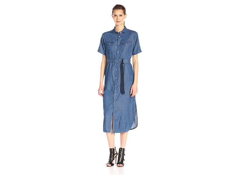 G-Star Raw Tacoma Maxi Dress In Light Weight Ferry Denim Rinsed