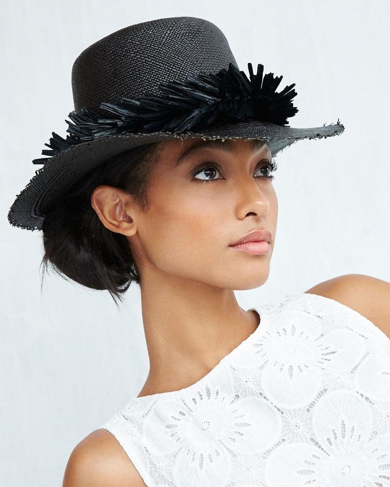 Gigi Burris Brigette Straw Boater Hat