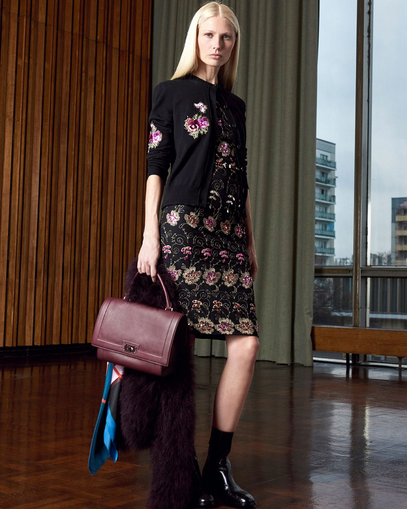 Givenchy Floral-Embroidered Novelty Cardigan