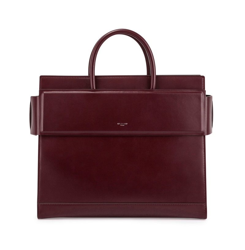 Givenchy Horizon Medium Leather Satchel Bag, Oxblood