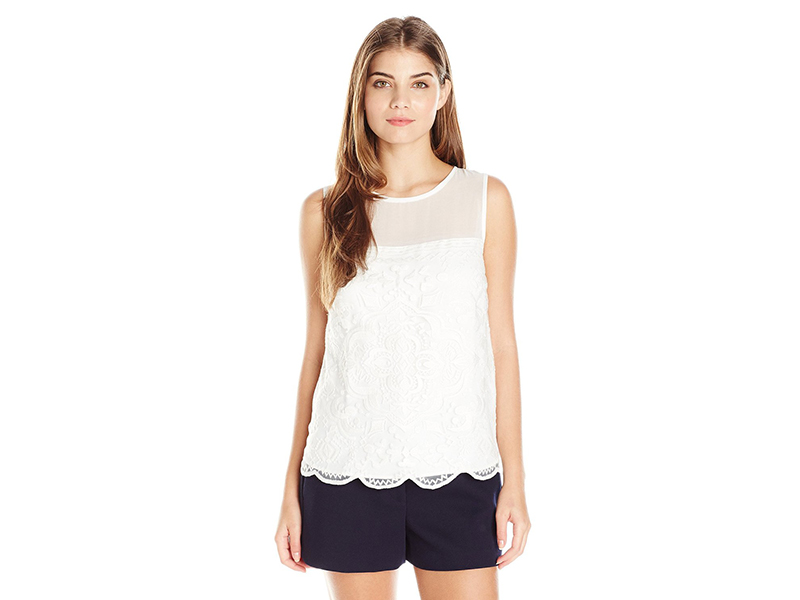 Greylin Aster Embroidered Lace Top