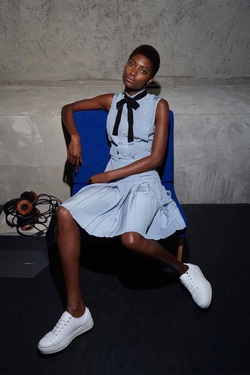 Gucci Ruffle Pleated Crêpe de Chine Dress