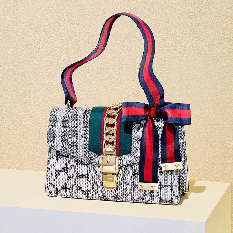 Gucci Sylvie Snake Shoulder Bag