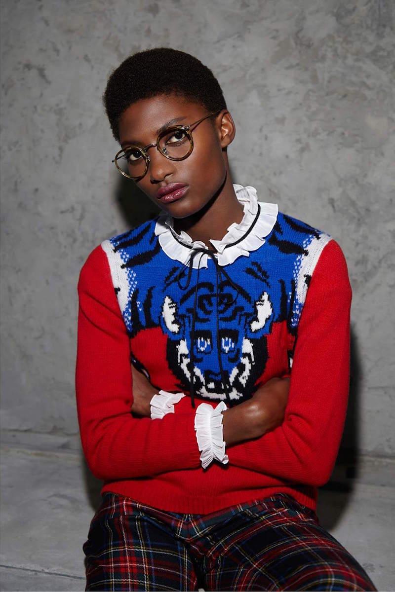 Gucci Tiger Knit Crew Neck Sweater