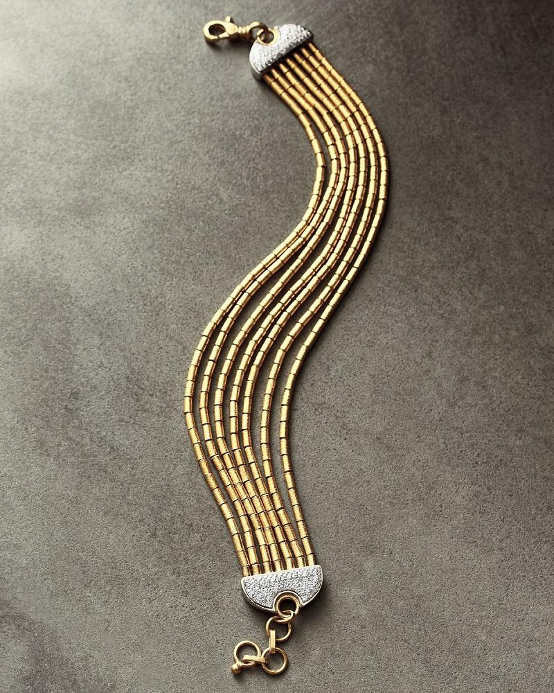 Gurhan Vertigo Pave 24K Seven-Row Bracelet