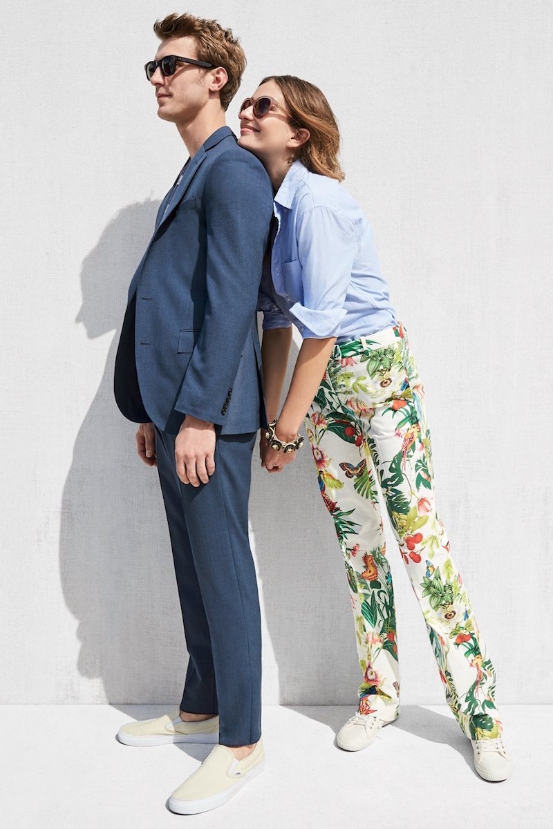 J.Crew Full-length Pant In Ratti Into The Wild Print