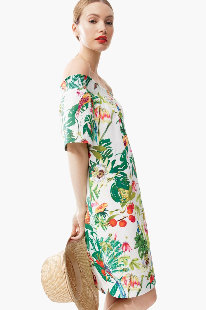J.Crew Off-the-shoulder Dress In Ratti Into The Wild Print