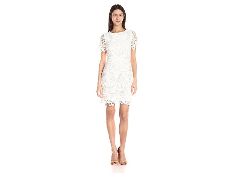 J.O.A. Crochet Mini Dress
