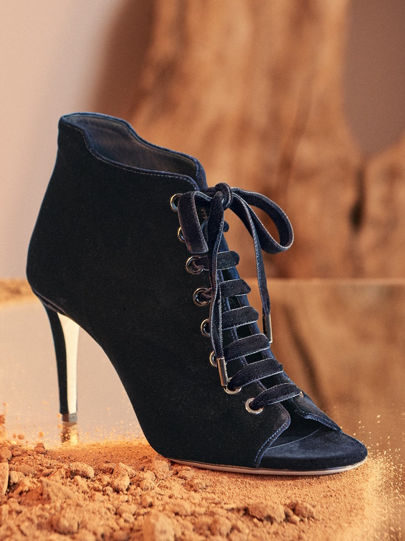 Jimmy Choo Mavy Lace-Up Peep Toe Bootie