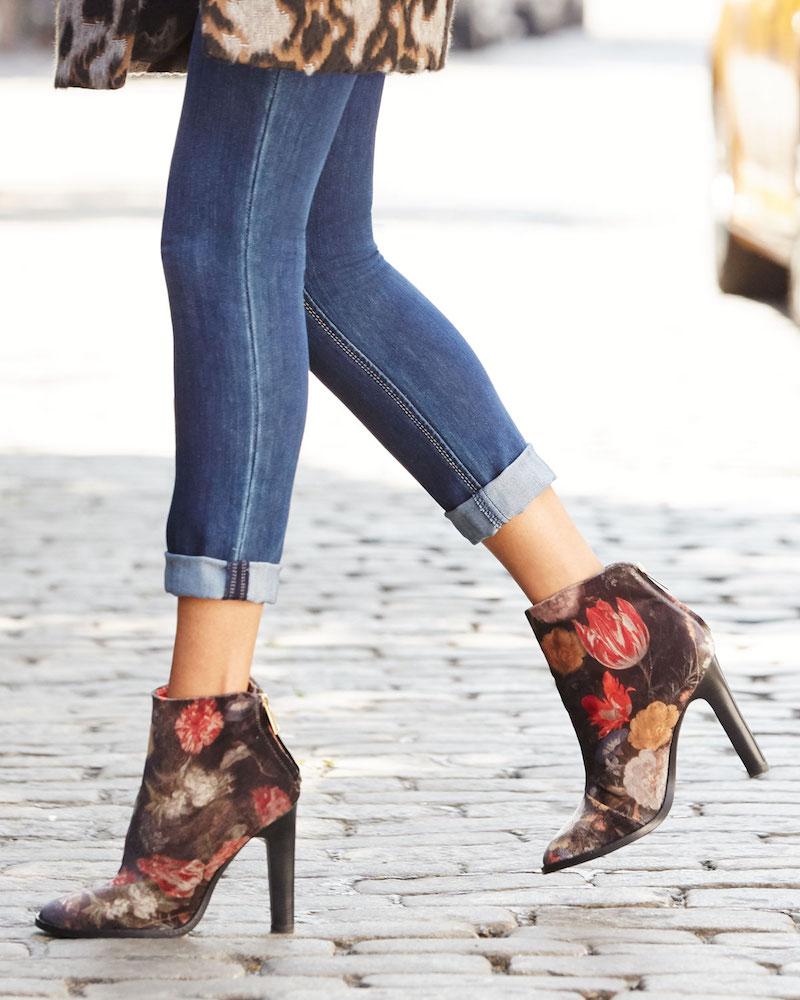 Joie Blayze Floral Velvet Bootie