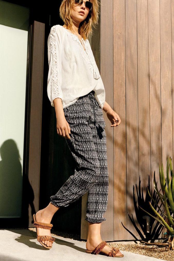 Joie Jourdanna Print Silk Pants