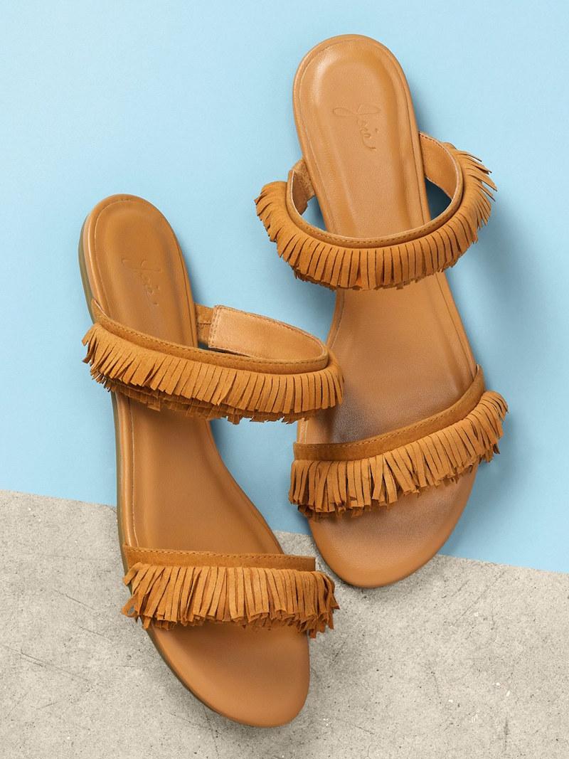 Joie Pippa Fringe Slide Flat Sandal