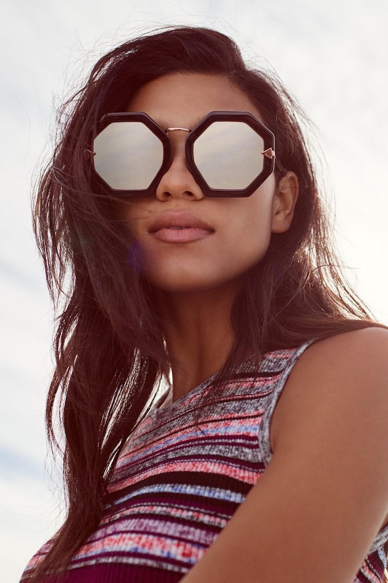Karen Walker Moon Disco 53mm Sunglasses