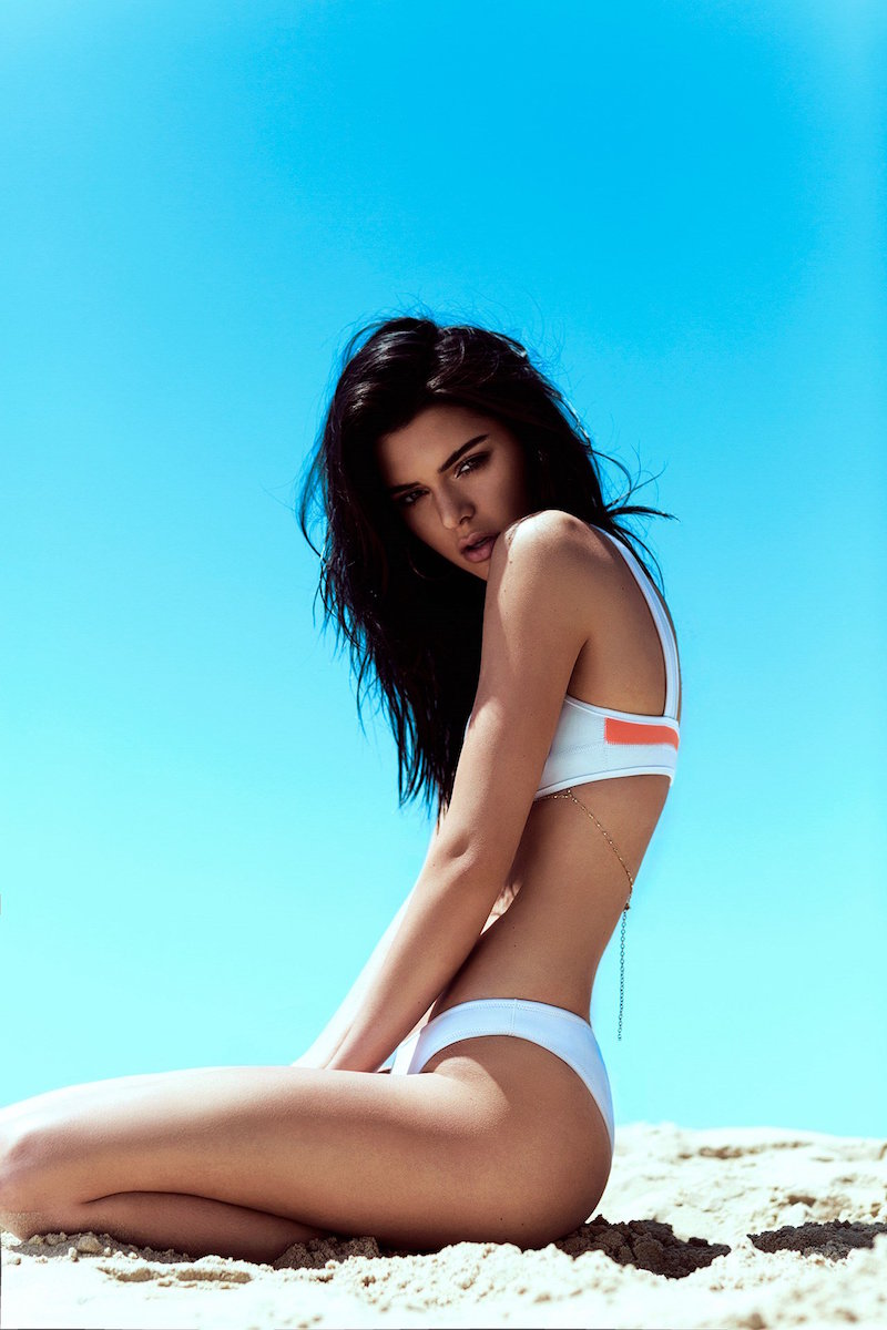 KENDALL + KYLIE at Topshop Bonded Neoprene Bikini Bottoms