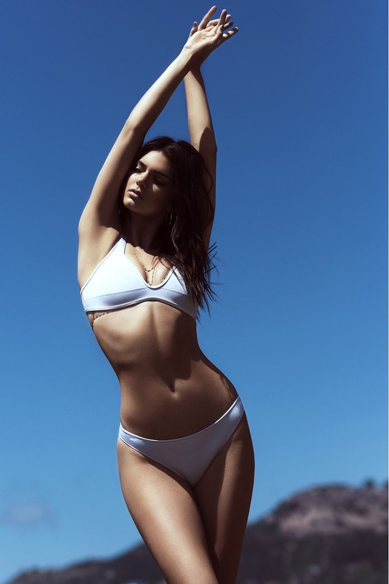KENDALL + KYLIE at Topshop Bonded Neoprene Bikini Top and Bottoms
