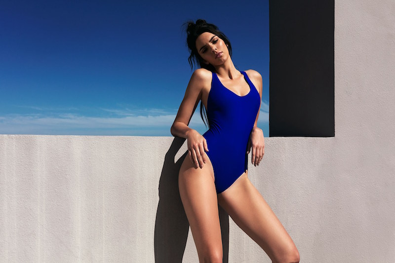KENDALL + KYLIE at Topshop Elastic Strap One-Piece Swimsuit