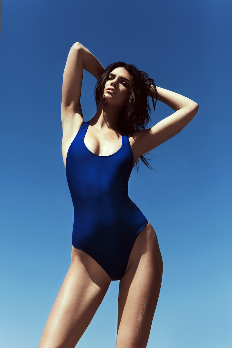 KENDALL + KYLIE at Topshop Elastic Strap One-Piece Swimsuit_1