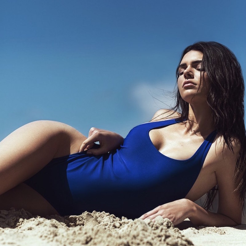 KENDALL + KYLIE at Topshop Elastic Strap One-Piece Swimsuit_2