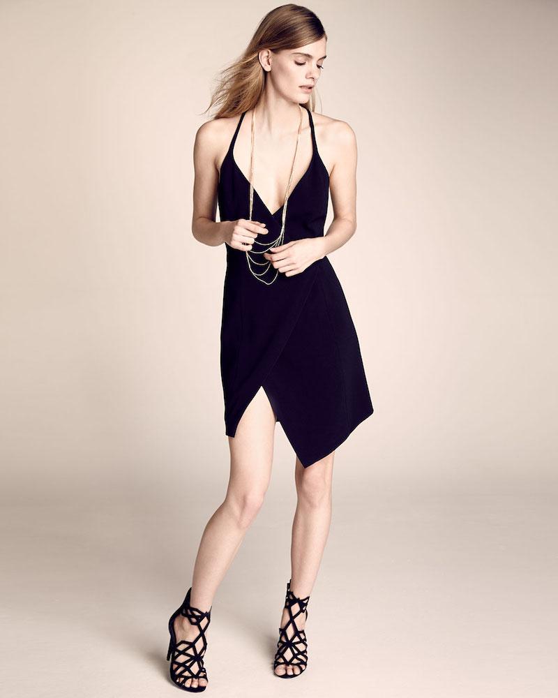 Kendall + Kylie Sleeveless V-Neck Split-Hem Dress