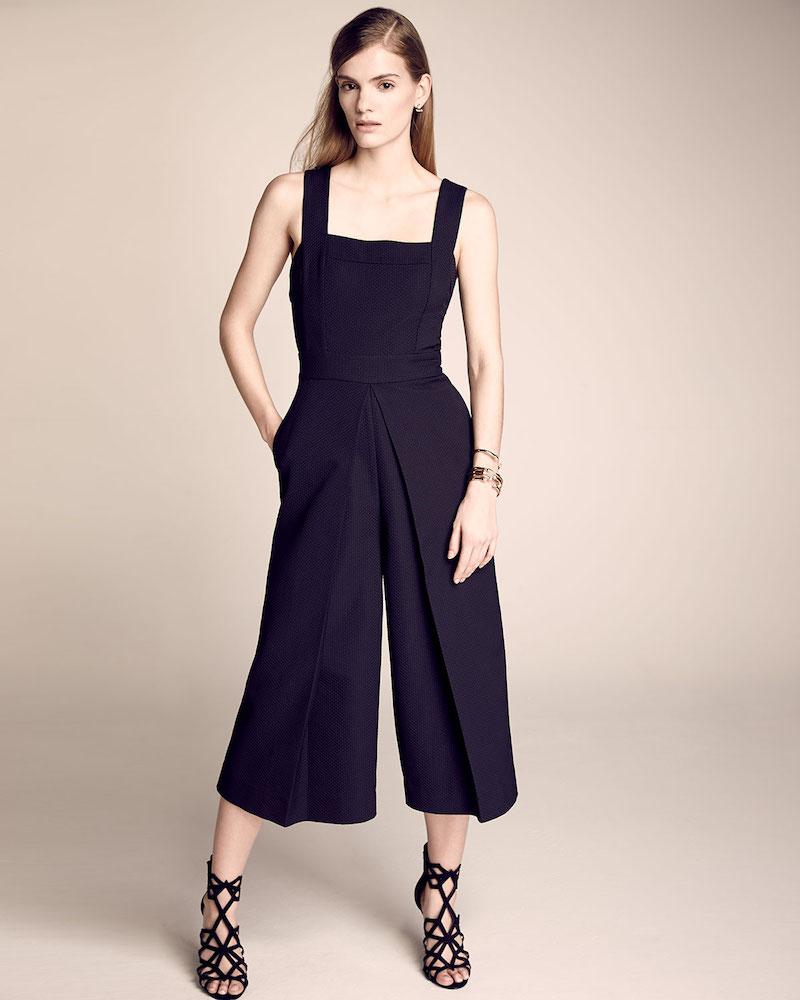 Kendall + Kylie Sleeveless Wide-Leg Culotte Jumpsuit