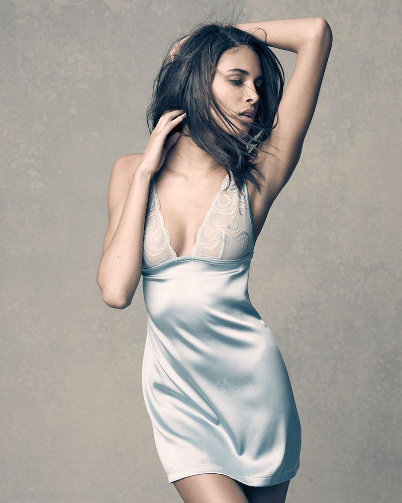La Perla Clio Lace-Bodice Silk Chemise