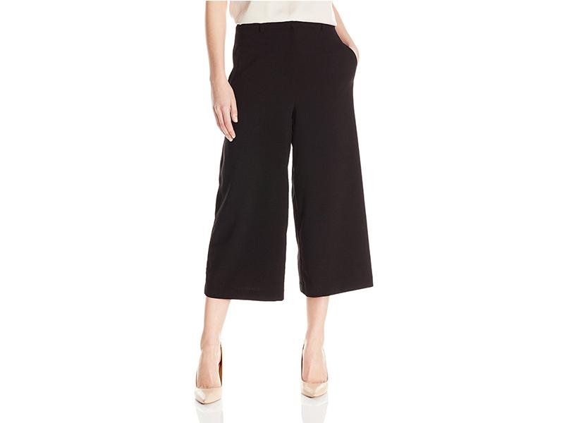 Lark & Ro Zip Front Culotte Pant