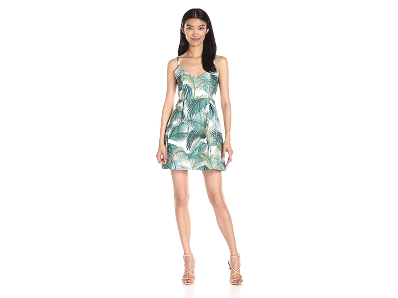 MINKPINK Take Me To Paradise Print Sweetheart Dress