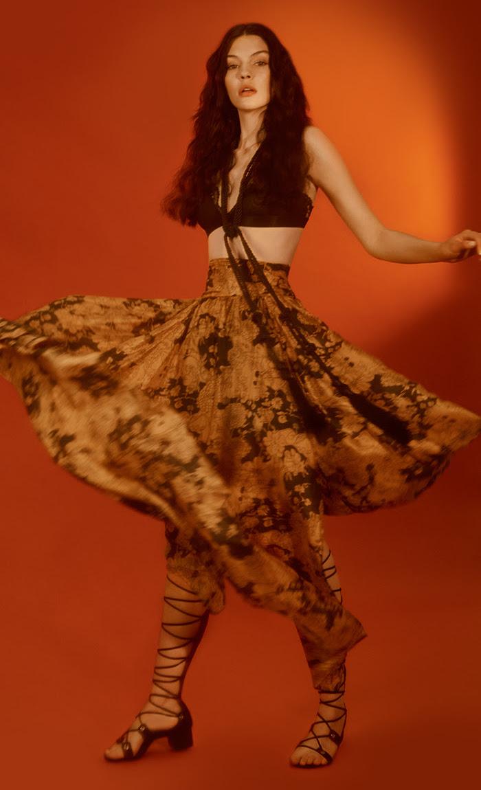 Nasty Gal Summer Nights Silk Skirt