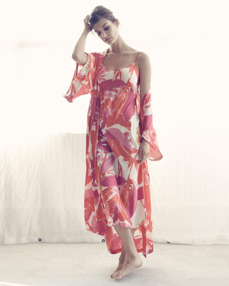 Natori Lucent Palms Gown