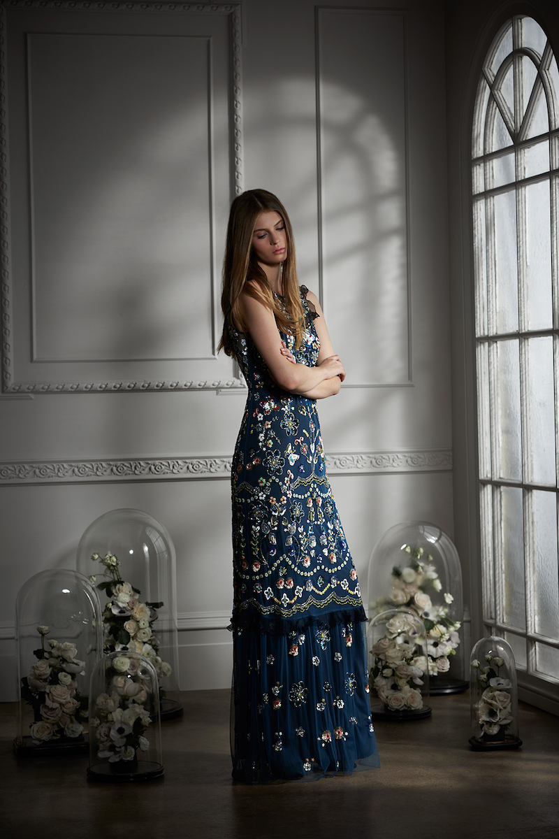 Needle & Thread Butterfly Garden Embellished Maxi Dress